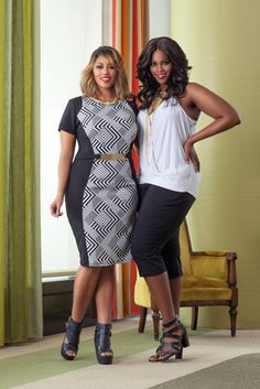 Plus size fashion! Ashley Stewart Models Britnee Blair and Monique Robinson