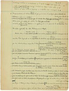Manuscrito El Aleph, 1945 de Jorge Luis Borges