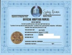 time lord cabbage patch birth certificate and adoption papers charlies bday present