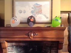 Other half of angry bird balloons