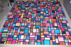 Laurie's random musings: Stained Glass Quilt, OR: Testing Google, 1, 2, 3