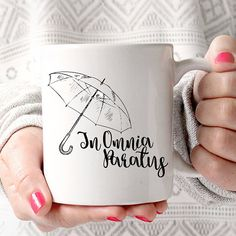 In Omnia Paratus | Ready for Anything | Latin Quote | Gilmore Girls Coffee Mug by JitterMug