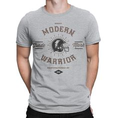 here's it, one of our nice tshirt design for man. Look this out guys! Wovy Men's T-shirt Modern Warrior Vintage Sport