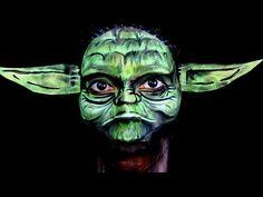 Star Wars The Force Awakens Yoda Makeup - YouTube