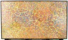 Untitled painting, by Emily Kame Kngwarreye. Wallis, National Museum, Display, History, Modern, Artist, Painting, Floor Space, Trendy Tree