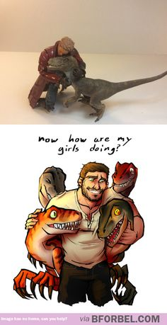 Chris Pratt And His Raptor Squad…