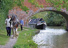 Joshua pulls a narrowboat