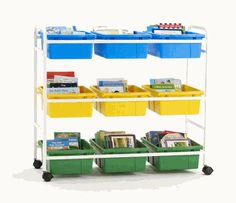 Leveled Reading Book Browser Cart with 9 Tubs, BB005-9 by Copernicus | BizChair.com