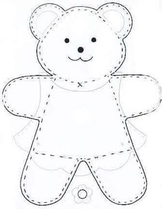 See Best Photos of Felt Bear Template. Teddy Bear Felt Template Bear Cut Out Pattern Winnie the Pooh Free Felt Templates Felt Teddy Bear Patterns Free Small Teddy Bear Patterns Applique Patterns, Doll Patterns, Sewing Patterns, Bear Patterns, Applique Templates, Knitting Patterns, Sewing Toys, Sewing Crafts, Sewing Projects