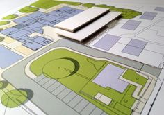 Hatcher Prichard Architects Bristol Cardiff_Briarwood SEN Post 16 Centre_Card Model With Drive