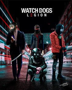 Legion Characters, Fictional Characters, Watch Dogs 1, Shadowrun, Resident Evil, Fantasy Creatures, Cyberpunk, Video Games, Watches