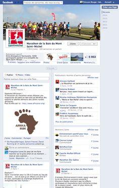 Le Marathon de la Baie du Mont Saint Michel confie la création de sa page Facebook ainsi que sa gestion à Poisson Bouge.