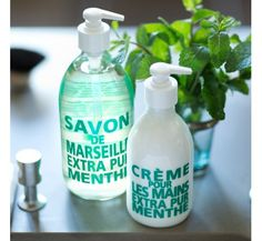 Savon liquide de Marseille 300ml Menthe