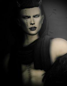 ***  Titzuki - Rangda (Face jewels and horns)  Gabriel– Wrap stole  Gabriel–Offshoulder Black fur  Ghost'Ink -Elemental Tattoo  ***    Before/After    ***   #face jewels #Fur #GABRIEL #Ghost Ink #horns #TATTOO #titzuki #wrap