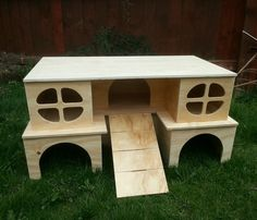 NEW LARGE DELUX 2 STOREY PLAY TUNNEL /SHELTER FOR GUINEA PIG/SMALL RABBIT | eBay