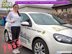 OBT Driving Instructor John Boyce helped Erin Jamieson from Airdrie pass her driving test on the 12th June 2014. Learn to drive with the number 1 driving school in the country, On Board Training - www.onboardtraining.co.uk