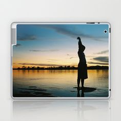 Female Body in the Amazon River Laptop & iPad Skin by David Hernández-Palmar - $25.00