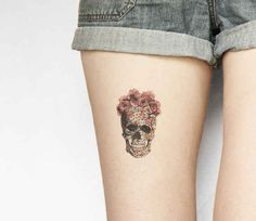 This floral skull: