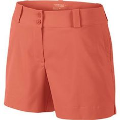 Turf Orange is the perfect color for spring! Love this Nike Ladies Modern Rise Sporty Golf Short! Golf Attire, Golf Outfit, Golf Fashion, Nike Fashion, Swag Fashion, Wilson Golf Clubs, Golf Shop, Golf Accessories, Nike Golf