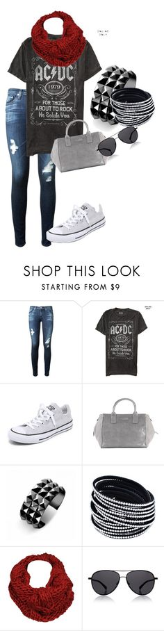 """""""my polyvore creations"""" by rose-roberts-1 ❤ liked on Polyvore featuring AG Adriano Goldschmied, Converse, Halston Heritage, Waterford, Black Rivet and The Row"""