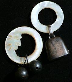 Vintage Sterling Silver Teething Ring Baby Rattles
