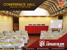 Discover best venues for your events.  Book your hall today at Srijanakiram Hotels! For booking call: +91 0462 233 1941 #booking #Conference_hall #partyhall #events