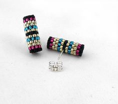 Peyote Tube collier bijoux argent Peyote demoiselle