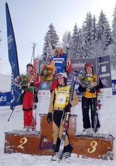 Skicross 2010 - Le podium Femme- 1. MCIVOR Ashleigh [Can] 2. MURRAY Julia [Can] 3. HUTTARY Karin