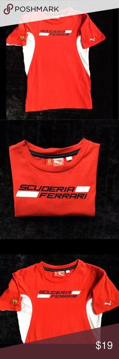 Puma Scuderia Ferrari Shirt Scuderia Ferrari Moto Racing Tee by Puma. Boys size large (12). Puma Ferrari Shirts & Tops Tees - Short Sleeve