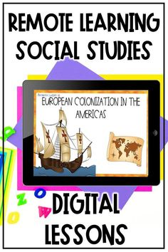 Teach your upper elementary social studies students about the European exploration and colonization of North America using this digital exploration and colonization activity! Students will learn about European explorers and the colonies they created. Engage your 4th, 5th, and 6th graders with this Google slides reading activity, jigsaw activity, and Flipbook whether distance learning or in your socialstudies classroom. #upperelementary #socialstudies #distancelearning Upper Elementary Resources, Elementary Science, Learning Process, Fun Learning, 7th Grade Classroom, Social Studies Resources, Middle School Science, Reading Activities, Google Drive