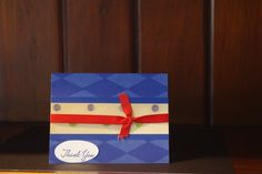 So I love the blue color in this one and how the ribbon is tied