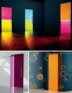 Might be an idea to use in my living room for my closet doors. full glass colored opaque doors