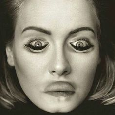 First, Adele f*cked up all our emotions. Let's all take a moment to recognize Adele is the songbird of our generation. Funny Illusions, Optical Illusions Pictures, Eye Illusions, Illusion Pictures, Adele Pictures, Funny Faces Pictures, Eye Tricks, Mind Tricks, Horror Films