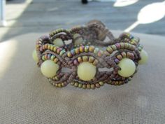 Hemp Macrame Bracelet with Buri Nut and by PerpetualSunshine111, $26.00