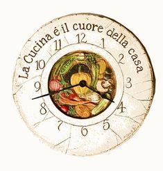 Italian Kitchen Decor Clock
