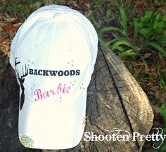 FREE SHIPPING Backwoods Barbie white baseball cap by ShootenPretty