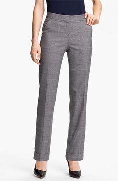 Anne Klein Cuffed Glen Plaid Pants (Petite) - http://womenspin.com/clothing/pants-shorts/anne-klein-cuffed-glen-plaid-pants-petite/