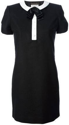 Shop for Contrast Collar Dress by Saint Laurent at ShopStyle. Black Collared Dress, Contrast Collar, Complete Outfits, Chic Dress, Business Attire, Passion For Fashion, Saint Laurent, Collar Dress, Clothes For Women