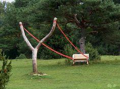 Ejection Bench? Land Art by Cornelia Konrads, Germany.
