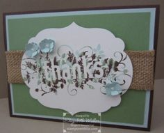 Stampin  Up thank you card featuring the Seasonally Scattered stamp set #stampinup