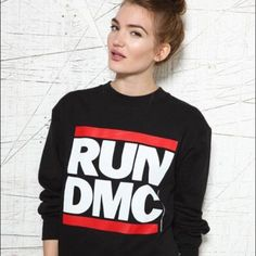 RUN DMC Hoodie ✨ Classic RUN DMC hoodie. Very stylish and retro look. In excellent condition! Worn one. Price is negotiable  Adidas Tops Sweatshirts & Hoodies
