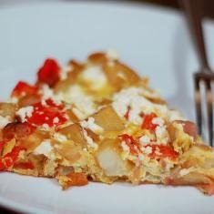 Potato, Red Pepper, And Feta Frittata (via www.foodily.com/r/wgdgqhW521)
