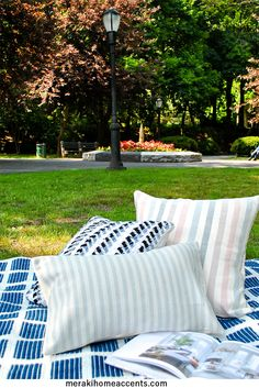 Picnic Rug? you found it! this indoor/outdoor rugs is light and perfect to bring to your next outdoors adventure find it at https://merakihomeaccents.com/collections/accent-rugs/products/blue-squared-meraki-accent-rug