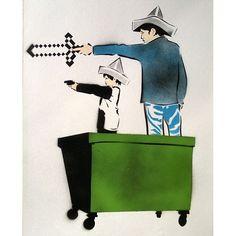 JANGSTERS @mamhelsinki #streetart #stencil #stencilart #jangsters #pirates #skipidipidii