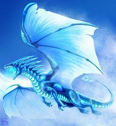 Ice dragon by IsisMasshiro on DeviantArt Fantasy, Ice Dragon, Fire And Ice, Fantasy Art, Mythical Creatures, Creature Art, Art, Dragon Pictures, Fantasy Dragon