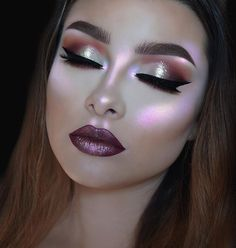 This makeup is translucent and very bright and is evenly placed throughout the face and I love this inspiration for makeup a edgy date I would name it.