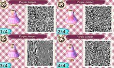 Animal Crossing: New Leaf - cute pink dress QR-code