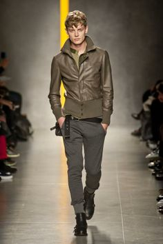 Manila's not a great place for leather jackets (too hot!) but those pants (are those slim cut sweats?!) are great! // Bottega Veneta