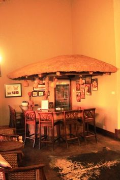 The Bar at at Game Lodge, Romantic Escapes, Lodges, Elephant, Bar, Rock, Home Decor, Cabins, Decoration Home