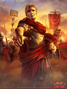 """This is another work made for the new edition of the Chilean TCG """"Mitos y Leyendas"""", called """"Águila Imperial"""", inspired in all Roman history. A really pleasure do Julius Caesar, one of the most famous political and military leader Ancient Egyptian Art, Ancient Rome, Ancient Greece, Ancient History, Ancient Aliens, Roman History, European History, American History, Imperial Legion"""
